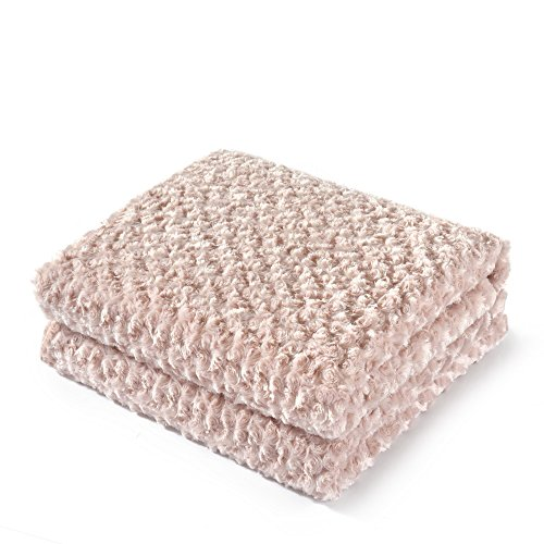 Pink Rose Pattern (King Linens Super Soft Microfiber Blanket Stereo Rose Pattern Fluffy Cozy Home Furnishing (Twin, Pink))