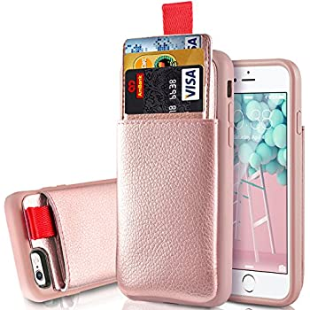 iPhone 6/6S Wallet Case, iphone 6S Card Holder Case, LAMEEKU iphone 6 Leather Case with Credit Card Holder Slot & ID Card Pockets Protective Cover for Apple iphone 6 / 6S 4.7 inch Rose Gold