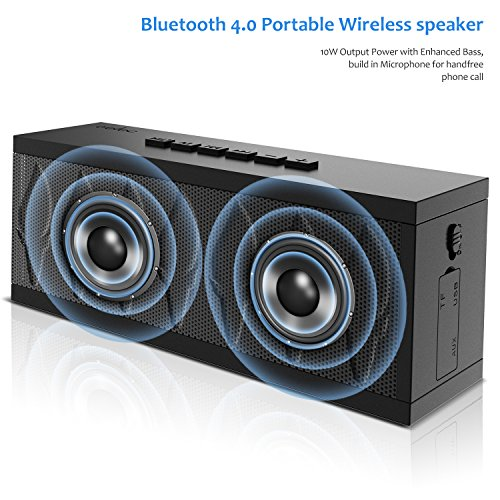 Bluetooth Speaker aelec Wireless Portable Speakers with Waterproof, HD Sound, More Bass, 10W+ Power, 15H Playtime for Home, Outdoor