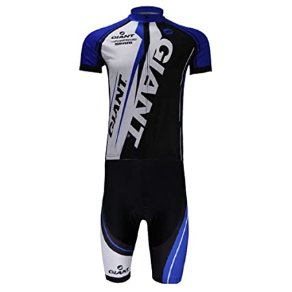 Quick Dry long Sleeve Giant Cycling Mens Jersey+pants Outdoor sport Blue white