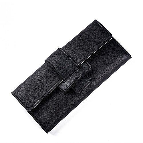 Main Sac de Black Zipper Wallet Fold Purse Deux Blue Femme Carte Color Lovely Multi Hasp Long à Titulaire rabbit la qIx46a