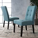 Christopher Knight Home 299869 Bronson   Fabric Dining Chair (Set Of 2), Teal Review