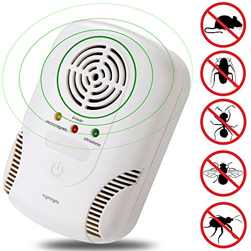 Pest Control Ultrasonic Repeller, Boverley Electronic Plug In Pest Repellent Indoor for Mice,Roaches,Spiders, Mosquitos, Insects, Bugs, Safe for Human and Pets