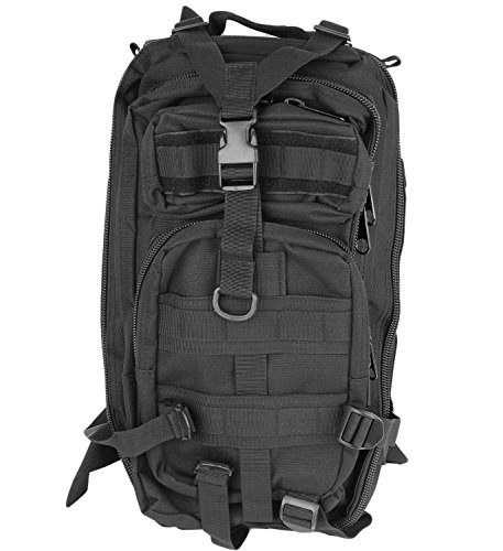 Military Style Tactical Backpack 3P 25 Liter Capacity (Nightshade)