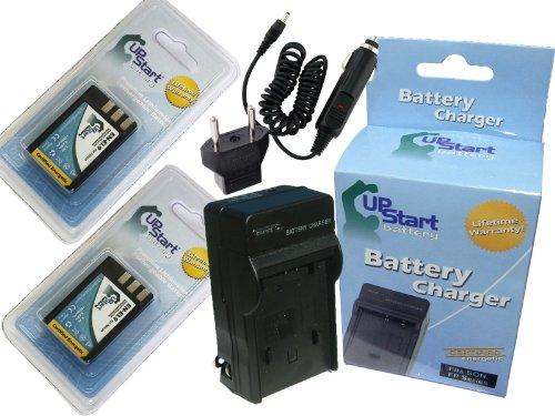 2x Pack - Nikon EN-EL9 Digital Camera Battery and Charger Replacement with Car & EU Adapters (1300mAh, 7.4V, Lithium-Ion) - Compatible with Nikon D3000, D5000, D40, D60, D40X, EN-EL9, EN-EL9a, MH-23, EN-EL9e