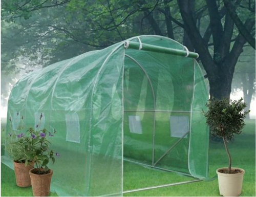 Quictent Quictent Galvanised 12'x7'x7' Large Walk-in Fully Closed Greenhouse Garden Hot House