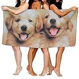 X-Large Bath Towels, Cute Twin Puppies Super Soft Ultra Absorbent Bath Towel for Men Women Kids, Bathroom Accessories
