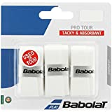 BABOLAT Pro Tour Grip, Black, Black or White, Pack of 3