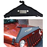 Lantsun Hood Cover Front End Bra Cover T-Style Protector Kit for 2007-2016 Jeep Wrangler JK & Unlimited J116
