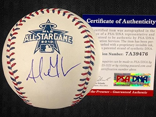 2010 All Star Baseball Ball - Adrian Gonzalez Signed Ball - 2010 All Star Witness COA - PSA/DNA Certified - Autographed Baseballs
