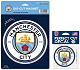 WinCraft Manchester City Football Club Magnet Gift Set 1 Large Die Cut Magnet and 1 Small Decal