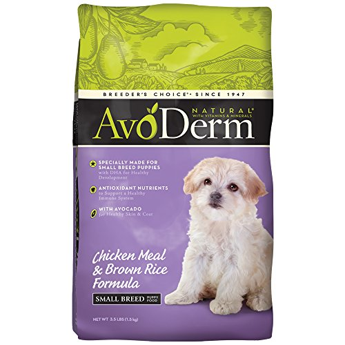 AvoDerm Puppy Food, Natural Chicken Meal and Brown Rice Formula, Small Breed, 3.5-Pound