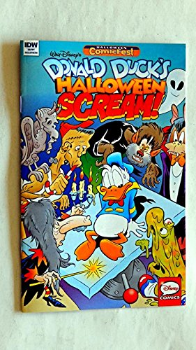 Donald Duck's Halloween Scream #2 Mini-Comic Book 8 1/2 Inches X 5 1/2 Inches - Halloween Comicfest - IDW Comics 2017 - Uucirculated Graded 9.8 By The Seller - 1st Printing - Disney - Very Rare ()