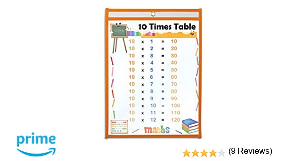 Workbook 6 and 7 times tables worksheets : Amazon.com : KOVOT Dry Erase Pockets - Set of 10 Multicolored ...
