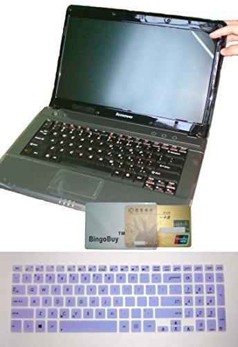 (2in1 US Layout Keyboard Skin Cover +15.6'' anti glare Screen Protector for Asus A551L K551LN S551LA S551LN S551X V551LA V551LB R553LN TP501UB Transformer Book Flip TP500LA TP500LN (semi-purple))
