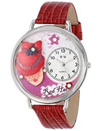 Whimsical Watches Unisex U0470005 Red Hat Madam Red Leather Watch