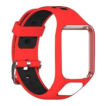 feiledi Trade Bracelet de Montre en Silicone de Remplacement pour Bracelet en Acier pour GPS Tomtom