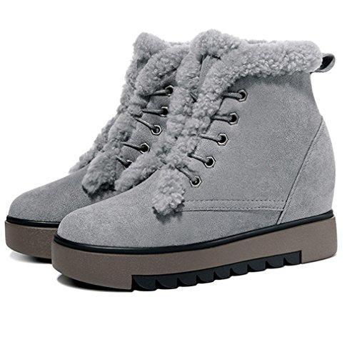 Boots Antid Chaude Martin Microfibre Coton Neige Fashion Bottes Femmes Demi Boots qPnxfSvtaw