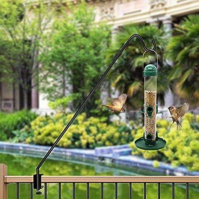 Juegoal 38 Inch Heavy Duty Deck Hook with 2 Inch Non Slip Horizontal Clamp for Hanging Bird Feeder, Plants, Suet Baskets, Lanterns, Wind Chimes : Garden & Outdoor