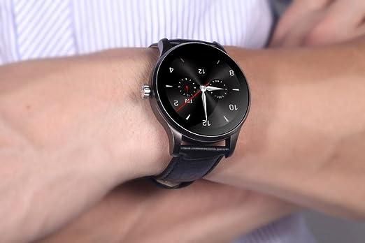 Reloj inteligente, bescita k88h Mtk2502 C Bluetooth Smart reloj ritmo cardíaco FITNESS Tracker piel reloj de pulsera, color negro: Amazon.es: Deportes y ...