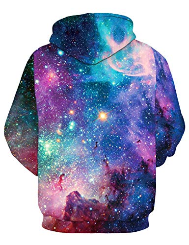 Sweat À galaxy Hooded Des Cool Avec Hoodie Longues Poches Unisexe Capuche 3d G Alisister Manches Sweatshirts axUXgwInq