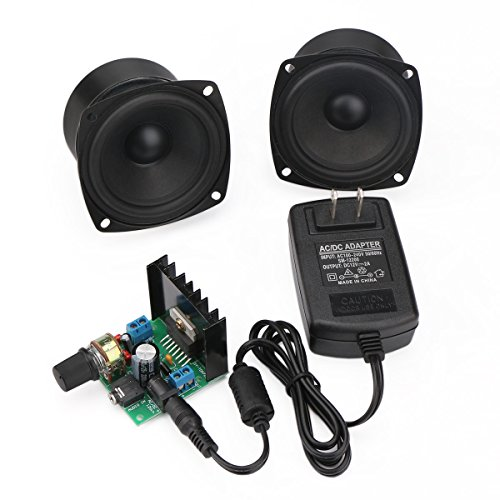 Dual Speaker Module (DROK Mini Ampli Board 6V to 18V Portable Stereo Amplifier Digital Amp Module Audio Amplify Dual Channel 15W+15W)