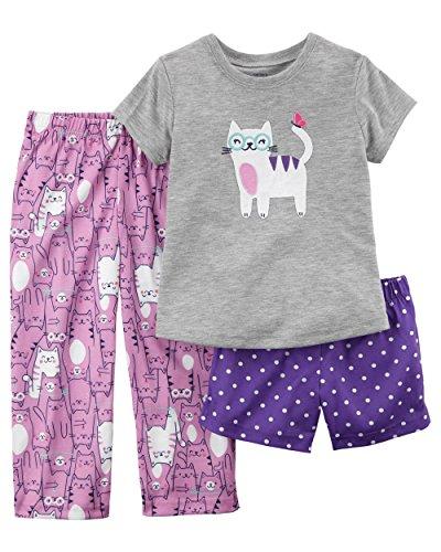 Piece Morgan 3 (Carter's Girls' 12M-12 3 Piece Cat Pajama Set 12 Months)