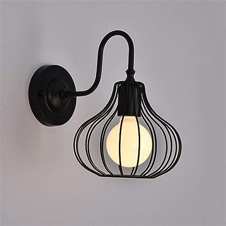 Lámparas de pared Lámpara de aplique de jaula de hierro hueca ...