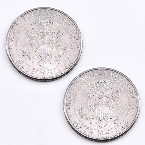 Double Sided Coin 2-Headed Half Dollar Coin Tail & Face Magic Tricks (Real Coin, Two Silver Eagle) by Doowops