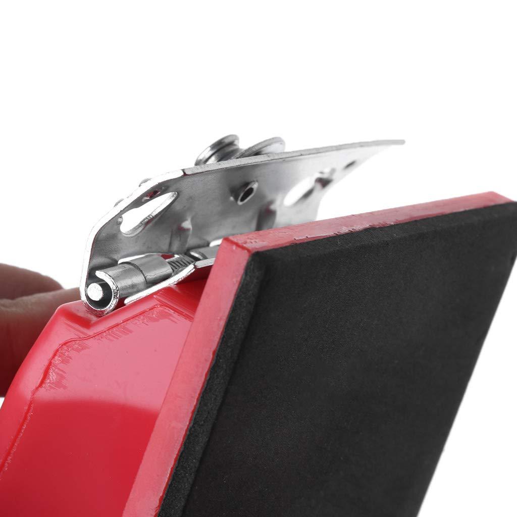 YHJGKO sandpaperRectangle Paper Grit Sandpaper Holder Hand Sander Red Black Small//Large-in Abrasive Tools from Tools,21x10cm
