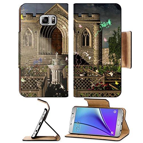 Liili Premium Samsung Galaxy Note 5 Flip Pu Leather Wallet Case Note5 (Stairway Plant Stand)