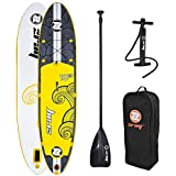 """zray X2 All Around Inflatable Stand Up Paddle Board, 10'10"""", Yellow"""