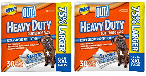 OUT! 30 Count Heavy Duty XX-Large Dog Pads – 2 pack! For Sale