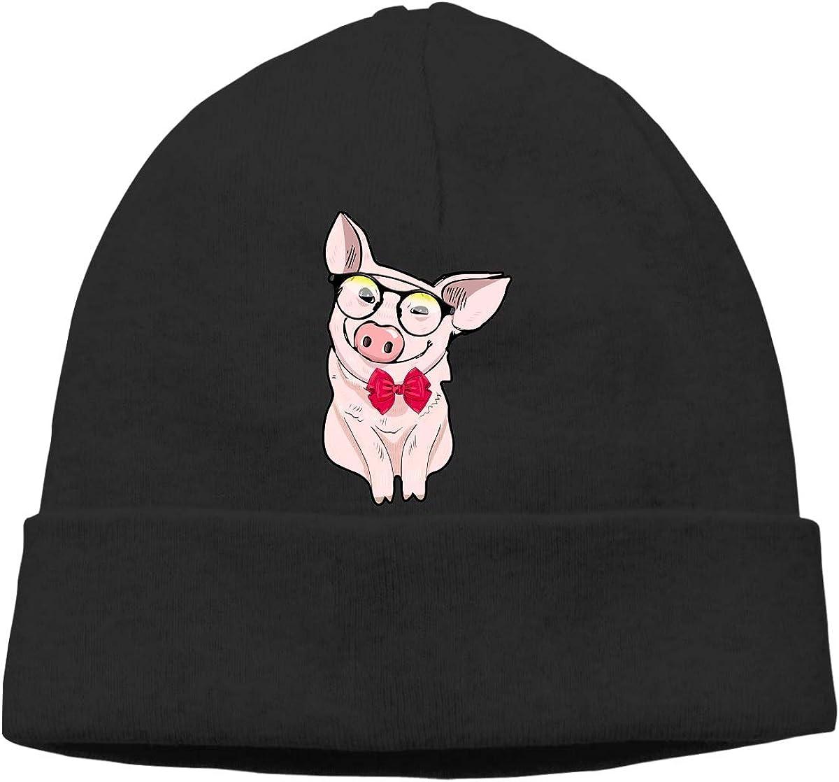 Thick Woolen Cap for Unisex Pig Dabbing Skull Cap