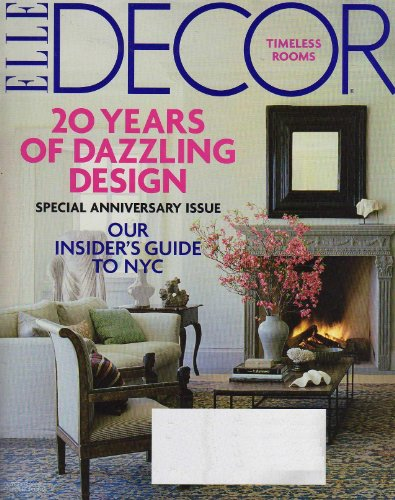 Elle Decor Magazine October 2009 No. 160 - 20 Years of Dazzling Design Special Anniversary Issue, Our Insider