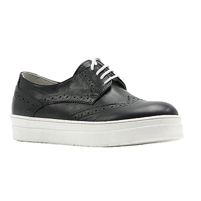 8100 Melrose Black Leather Wingtip Lace Up Size 40