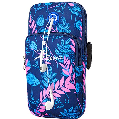 Sports Arm Bag,WATACHE Universal Bounce Free Gym Armbands Phone Holder Pouch Case with Earphone Hole for iPhone Xs Max/Xs/X 8,Galaxy S10 Plus/S10/Note 9/S9/S8/S7/,Huawei and LG,#6Blue from WATACHE
