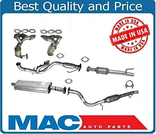 Mac Auto Parts 142909 FULL COMPLETE EXHAUST SYSTEM + CATALYTIC CONVERTERS + ENGINE FLEX PIPE + MUFFLER 01-04