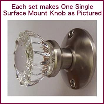 Crystal Antique Brushed Nickel (Pewter) Surface Mount Single Dummy ...