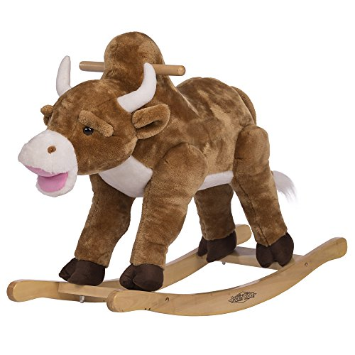 Rockin' Rider Fernando Rocking Bull Plush, Brown