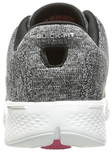 White Go Donna Scarpe Skechers Knit Black Nero 4 Running Walk 7gwq4T