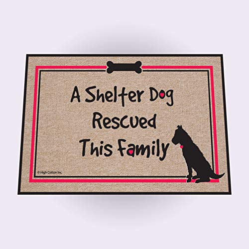 - High Cotton Shelter Dog Doormat