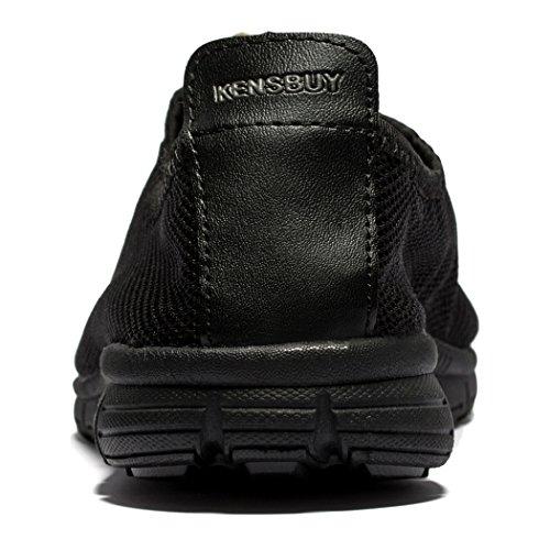 Scarpe Da Ginnastica Traspiranti In Mesh Traspiranti Uomini E Donne Outdoosr Slip-on Beach Aqua Shoes All Black