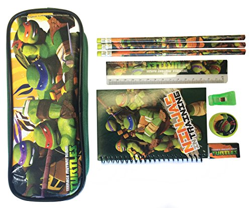 Ninja Turtles Pencil Case and Stationary Set - Great Gift Se