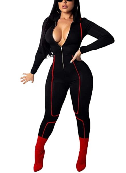 Zip-Up Color Block Bodysuit