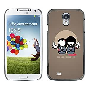 LASTONE PHONE CASE / Carcasa Funda Prima Delgada SLIM Casa Carcasa Funda Case Bandera Cover Armor Shell para Samsung Galaxy S4 I9500 / Bad Ass Quote Movie Fiction Guns Art Suit