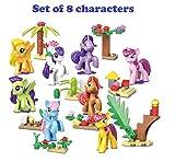 DunnsToys Little Pony Build Block Figures Set