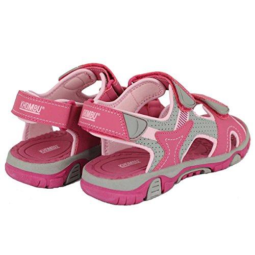 Pictures of Khombu Girls' River Sandal Pink/Grey Pink / Grey 4