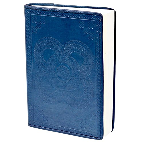 SouvNear Blue Journal/Diary – Genuine Leather Handmade Personal Notebook – Embossed Celtic Knot