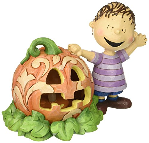 Jim Shore for Enesco Peanuts Linus and The Great Pumpkin Figurine, 5